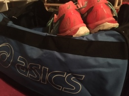 Love my asics. Shoes, vest, bag, shirts even. Packed and ready to go.